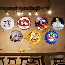 30cm vintage home decor beer party round bottle cap tin signs art
