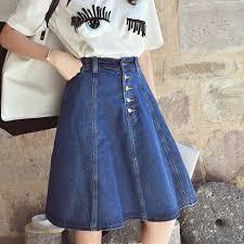 denim skirts autumn skirt denim skirts knee length skirt high waist