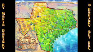 State Map Of Texas by Illustrated Map Of Texas State Youtube