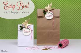 wrapping ideas easy bird gift toppers darice