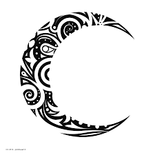 tribal moon designs tribal crescent moon drawings