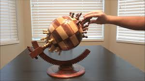 flat earthers will this wooden globe chess set technabob