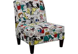 Girls U0027 Night Out Black Accent Chair Accent Chairs Black