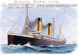 List Of Ship Sinkings by The White Star Line Passenger Lists And Emigrant Ships From
