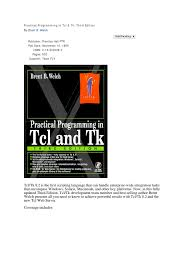 practical programming in tcl and tk scripting language command