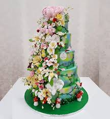 theme wedding cake garden theme wedding cake royal cakes al barsha dubai