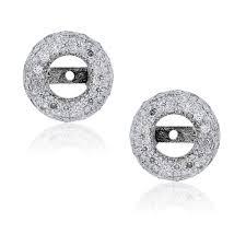 earring jackets for studs 18k white gold diamond stud earring jackets boca raton