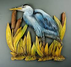 great wood carvings great blue heron carved on wood 216 64 usd by davydovart based