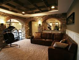 basement ideas with low ceilings basement modern with recessed