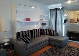 Sectional Sofas With Bed Wall Bed Sofa Combination From Murphysofa Gas Mechanism Slatted Base