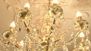 Chandelier With Crystal Balls Gold Chandelier With Crystal Balls High Speed Camera Shot Full