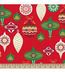 christmas print fabric modern christmas bulbs joann