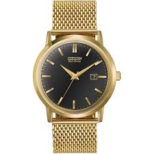mesh bracelet watches images Citizen gent 39 s eco drive gold mesh bracelet watch watches from jpg