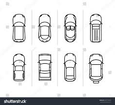 royalty free vector set outline cars top view u2026 393776587 stock