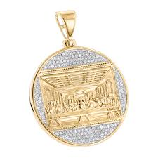 necklace gold man images 10k gold last supper diamond pendant for men medallion by luxurman jpg