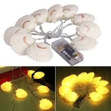 battery operated led string lights waterproof aliexpress com buy 1 3m sea shell led string lights waterproof