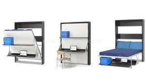 sous bureau design lit armoire escamotable rabattable matrix avec bureau et étagère