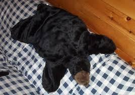 faux fake fur bear moose rug youth child children fur rugs
