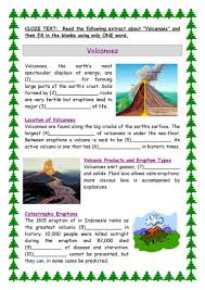 13 free esl volcano worksheets