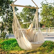 amazon com cctro hanging hammock chair swing seat large