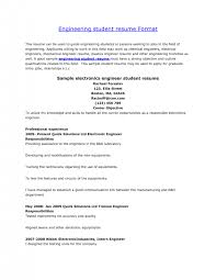 Resume Format For Electronics Engineering Student Cover Letter Engineering Graduate Resume Electrical Engineering