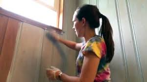 Refinish Wood Paneling How To Color Wash Knotty Pine Youtube
