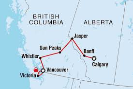 Jasper National Park Canada Map by Canada Tours U0026 Travel Intrepid Travel Ca