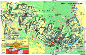 Usa Tourist Attractions Map by Map Of Arizona Grand Canyon National Park East Planetware