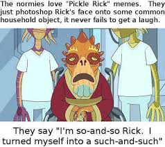 Make A Picture Into A Meme - normies should not make pickle rick memes because reasons