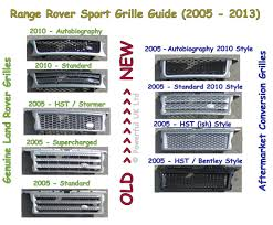 range rover sport grille side vent autobiography style upgrade kit