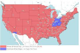 Kansas City Map Tv Broadcast Map Denver Broncos Vs Kansas City Chiefs Nfl Week