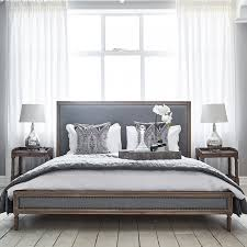 Boston Bed Super King Size Grey Linen Brissi - Boston bedroom