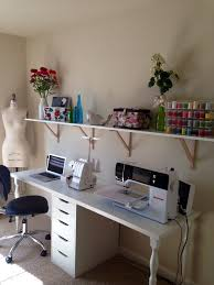Room Desk Ideas My Sewing Studio Closet Madness Table Storage Sewing Rooms