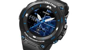 casio debuts its 500 rugged android wear smartwatch with mapping