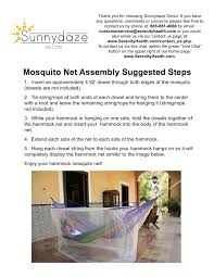 Hammock Overstock by Sunnydaze Extra Large Hammock Mosquito Net 78 Inch Long X 36 Inch