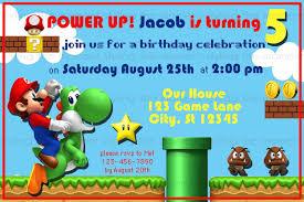 super mario brothers birthday invitations dolanpedia invitations