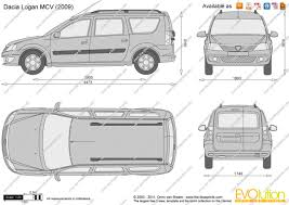 renault logan 2007 the blueprints com vector drawing dacia logan mcv