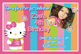 kitty rainbow birthday invitations partyexpressinvitations