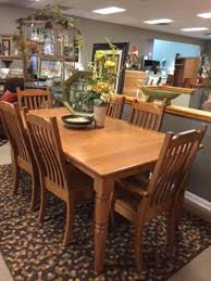 Amish Oak Dining Room Furniture Amish Haus Oak Dining Room Set With 6 Chairs And 2 Leaves