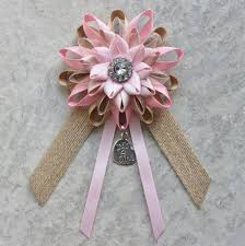 baby shower ribbon rustic baby shower decorations pink baby shower corsage