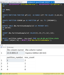 table partitioning in sql server table partitioning in sp1 for sql server 2016 database