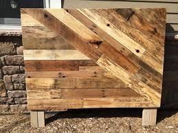 Pallet Wood Headboard Pallet Wood Headboard