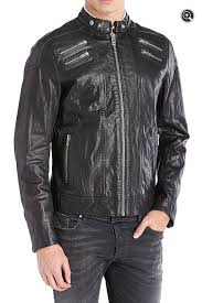 mens moto jacket new mens diesel l neilor black leather moto jacket u2013 buck u0026 zinkos