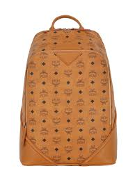 mcm designer mcm bookbag white mcm medium duke faux leather backpack