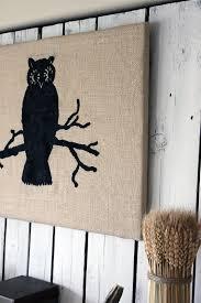 burlap owl wall art halloween the graphics fairy