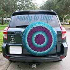 tire cover for honda crv pumpkin spice crocheted spare tire cover by tristinandcompany