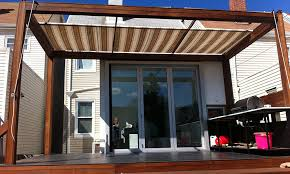 How To Make Your Own Retractable Awning Make Your Own Retractable Sun Shade Landscaping Gardening Ideas