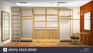 3d interior design spacious dressing room stock photo royalty