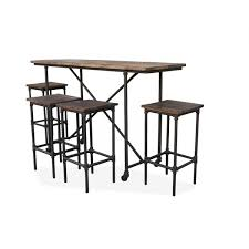 rectangle pub table sets rustic 5pc bar setting rectangular table popular rectangle within 11