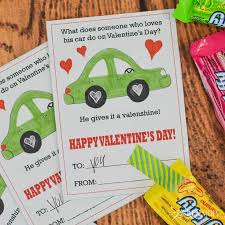 candy s day card car valentines free printable s day cards for kids